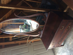 Antique bureau with mirror,give away price