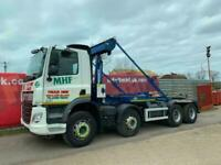 2016 DAF CF370 8x4 Hookloader Fitted With Boughton Equipment