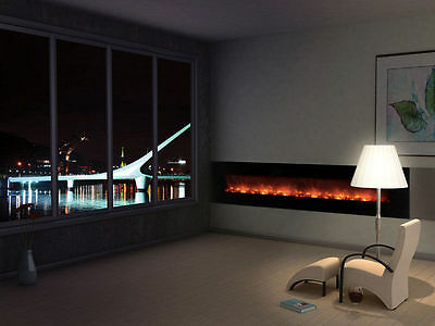 Modern Flames AL100CLX-G Wall Mount/Built-in Electric Fireplace with Black Glass