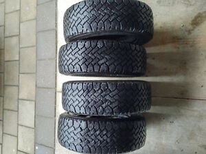 Snowmark Radial HT M+S 195/60R14 Winter tires with steel rims London Ontario image 2