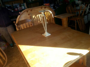 Maple table with four chairs-free delivery