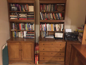 Desk with matching bookshelves