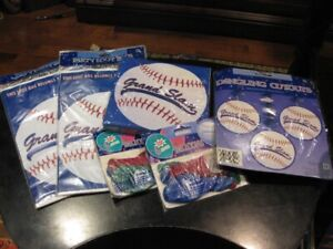 NEW Sports Baseball Party/Birthday Supplies and Stickers