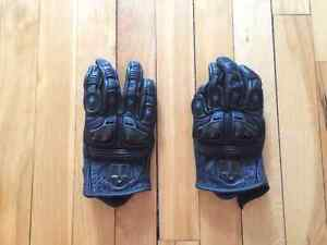 NEW Women's Black Leather armored motorcycle gloves