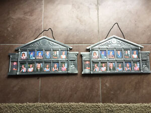 "2 Beautiful Metal Picture Frames for School Years 13 1/2"" x 8"""