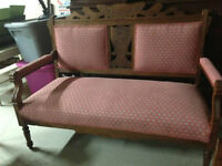 Eastlake Settee, Gentelman's Chair, Ladies Chair