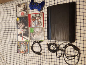 PS3, 6 Games, Controller & Cords 4 Sale