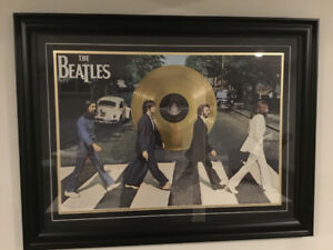 Beatles Abby Road Framed Picture (Gold LP)