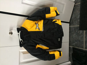 Kid's size 4 skidoo suit and gloves - like new condition