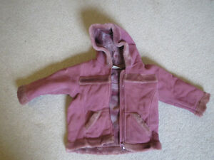 Beautiful micro-suade girls fall jacket size 12-18months