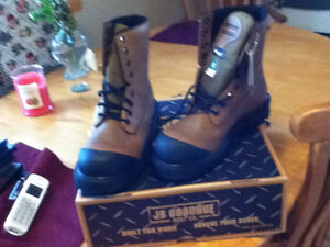 1 BRAND NEW PAIR OF JB GOODHUE  WORK BOOTS SIZE PR1CE $100.