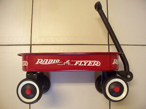 Collectible Radio Flyer Baby Size Red Metal Wagon Good Condition