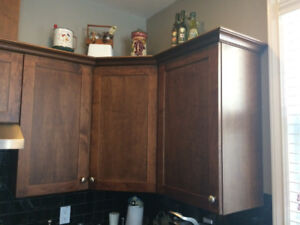 Maple cabinets and drawers