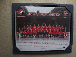 "FS: 1998 Canadian Men's Olympic Hockey Team 16""x20"" Sheet Framed London Ontario image 1"