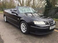 2005 Saab 9-3 1.8t Linear, Convertible, Black,Grey Leather, Nice Driving Car.