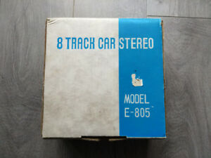 RARE vintage NEW IN BOX  8 Track car radio made in japan $199 ob