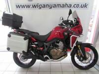 HONDA CRF1000A-H AFRICA TWIN, 17 REG ONLY 2102 MILES, 3 BOX LUGGAGE, ARROW CAN..