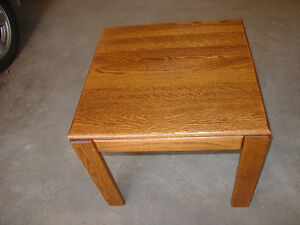 solid oak end tables for sale 30.00 each or 50.00 for both