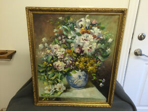 Original Floral Painting by S. Easton London Ontario image 1