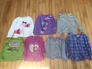 Size 4 long sleeve shirts (Baby Gap, Children's Place, Disney)