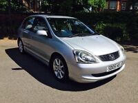 HONDA CIVIC 1.6 VTEC, LEATHER, 5 DOOR, 12 MONTHS MOT