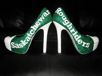 Custom Made Saskatchewan Roughrider Shoes