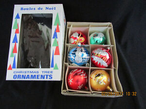 Vintage Mercury Glass Christmas Tree Ornaments $20 per Box
