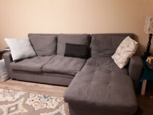 OBO Sectional with pull out bed and storage