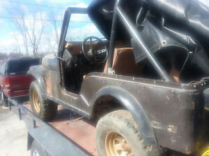 77 cj5 v8 304 levis int GOLDEN EAGLE $2100 !
