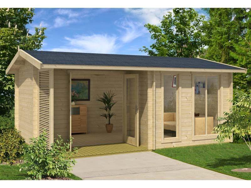 BZB Log Cabin Kit, Pool or Garden House, 16