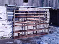 Large Set of Steel Shelving - medium duty - old but solid