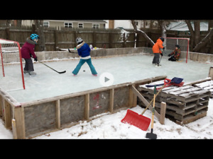 Outdoor Skating Rink 20ft x32ft with 2ft High Boards