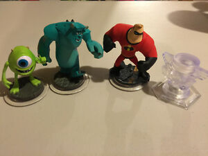 Disney Infinity Piston Cup, Mike Wazowski, Sully,Mr. Incredible