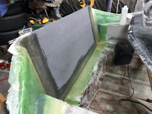 Boat transom, stringers and floors