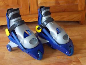 Rollerblade d'enfant pour apprendre (2 roues stabilisatrices en