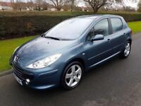 PEUGEOT 307 1.6 (16v) 110bhp SPORT - 5 DOOR - 2007 - GREY ** LOW MILES **
