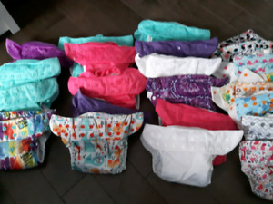 Baby girl cloth diapers