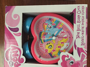 New! My little pony twin bell alarm clock