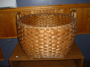 Laundry Basket (Weaved by P.E.I. Native)100 years old
