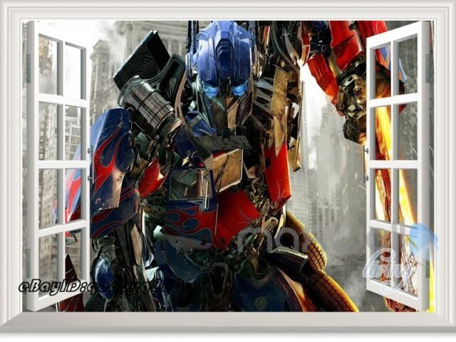 Transformer Optimus Prime Hero D Window Wall Decal Removable - 3d window wall decals
