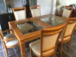 Beautiful dining room table with matching China cabinet