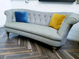 John Lewis Heyworth Chesterfield 3 seater sofa in green RRP £1650