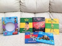 Set of 5 X Read along Disney stories with CD