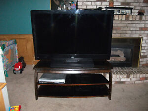 1080 LED 60 inch sanyo tv and stand with swivel mounting bracket