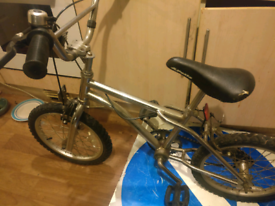 Chrome BMX bike, small