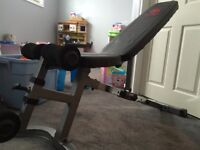 Incline/flat Workout bench! Great condition!