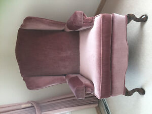 Large dusty Rose Wing Back Chair Estate sale