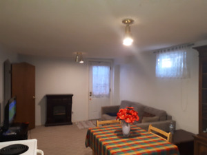 One bedroom basement apartment in Belleville