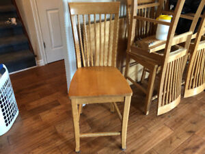 Solid Oak Chairs (Bar/counter Height) - Set of 6