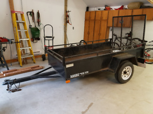 Utility Trailer with rear ramp loading.
